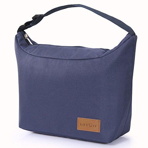 Lifewit borsa termica per pranzo e con manico regolabile per uomo/donna/bambino, blu scuro