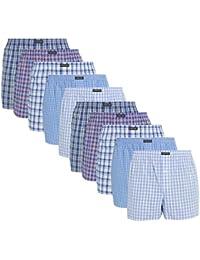 Lower East American Style Boxershorts, Mehrfarbig Business), Large (Herstellergröße: L), 10er-Pack