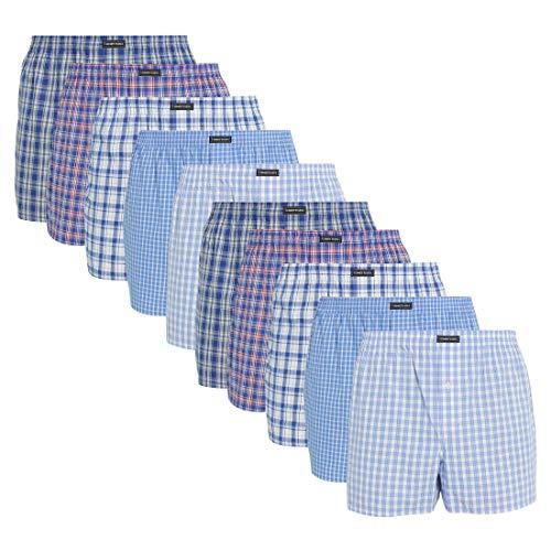 Lower East American Style Boxershorts, Mehrfarbig Business), Small (Herstellergröße: S), 10er-Pack