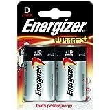 ENERGIZER Blister de 2 Piles Ultra+ LR20 Mono D