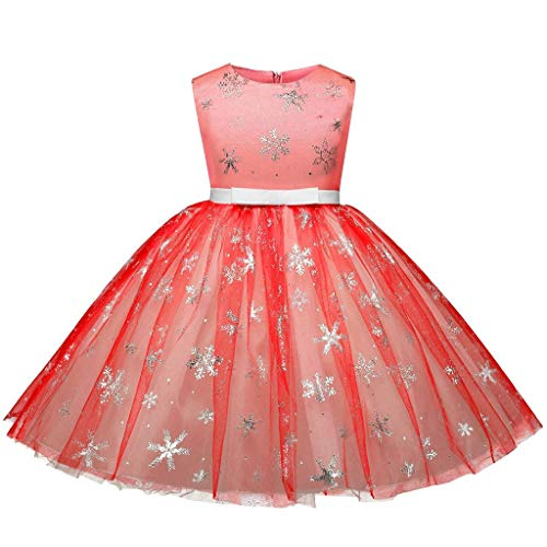sunnymi  ® 1-7 Jahre Baby Kleider Mädchen Schneeflocke Bling Kostüme Party Tutu Prinzessin ()