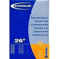 """SCHWALBE Fahrradschlauch DV13 mit Blitzventil ~ 26"""" ~ 40/62-559 mm (26 x 1,50 - 2,50 Zoll) auch für MTB's + Leichtmofas"""