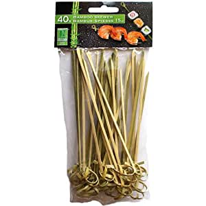 40 bambus spie e 15cm bambussticks bambus holz natur partyspie e dekospie e bambusspie e party. Black Bedroom Furniture Sets. Home Design Ideas