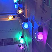 NOVALUC 20 LED Double Ball String Lights for Home Decoration Christmas Diwali Fairy Lights (Multicolor)