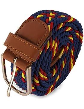 Legado Cinturón Hombre elástico color marino con bandera detalles en piel hecho en Ubrique CON PULSERA BANDERA...