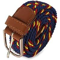Cinturón trenzado elástico bandera de España, presentado en bolsa exterior ...