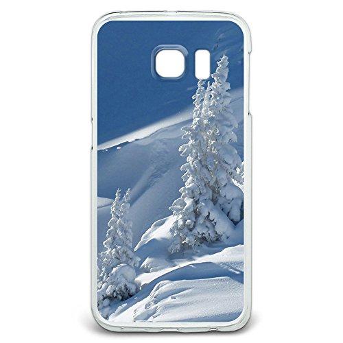 schneebedeckten Mountain Slope–Snowboard–Ski Snap On Hard Schutzhülle für Samsung Galaxy S6Edge (Amp Snowboard)