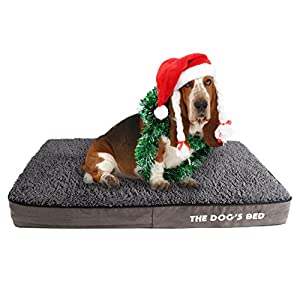 The-Dogs-Bed-Premium-Orthopedic-Waterproof-Memory-Foam-Dog-Beds-Eases-Pet-Arthritis-Hip-Dysplasia-Post-Op-Pain-Quality-Therapeutic-Supportive-Bed-Washable-Covers