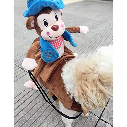 XuBa Haustier Hund Cosplay Kostüm mit AFFE Outfit für Halloween Haustier Kostüm Blue L