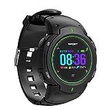 Miya System Ltd Herrenuhr, Schrittzähler Schlaf Tracker, Fitness Verhalten Tracker Farbdisplay Bluetooth Smart Sport Silikon Uhr, Kann Alarm vibrieren und Telefon Textnachrichten empfangen(Grün)
