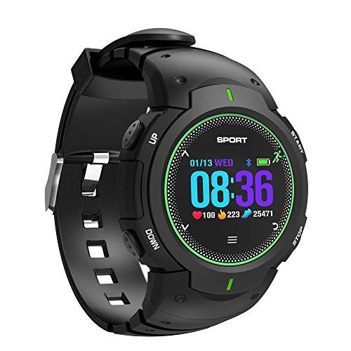 Smart Watch Herren,Miya Wasserdicht IP68 Sport Silikon Uhr Smart Watch Intelligente Sport Uhr Armbanduhr Fitness Tracker mit Schrittzähler,Kompatible iPhone Android Handy(Grün)