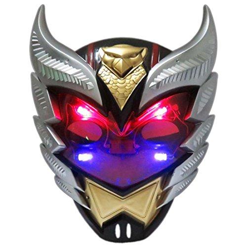 Ritter Maske, Lommer Avengers Held Charaktere Kostüm Zubehör Masken mit LED-Licht für Kinder (Hinweis Charaktere Kostüme)