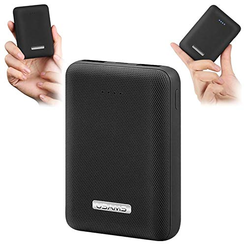Usams US-CD60 PB4 Dual USB Mini Power Bank - 10000mAh - Black
