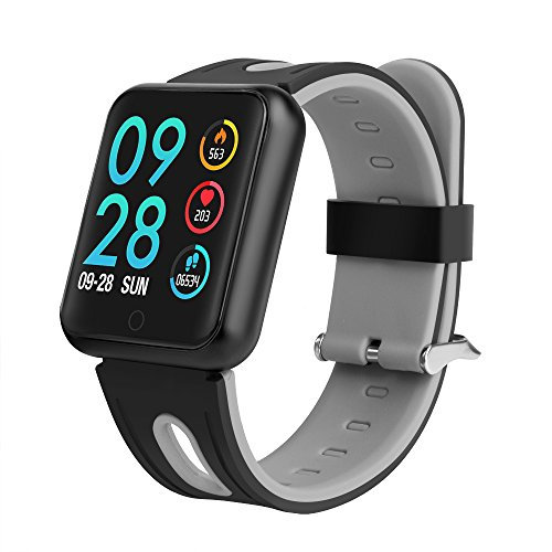 TechCode Bluetooth Smartwatch, Smart Watch Uhr Intelligente Armbanduhr Fitness Tracker Armband Sport Uhr mit Herzfrequenz Aktivität Schrittzähler Blutdruckuhr für Kinder Frauen Männer