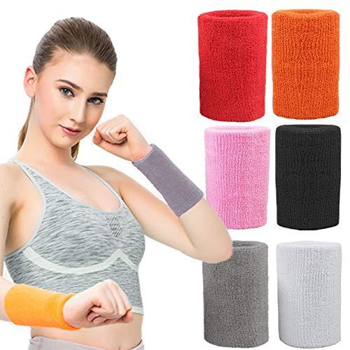YHLVE basketball Wristband, cotone traspirante cinturino fasce elastiche cinghie da polso, Grey, 8 *...