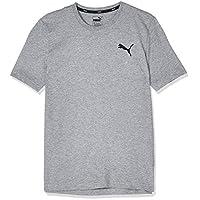 PUMA Men's ESS Small Logo Tee, (Gray 23), Large