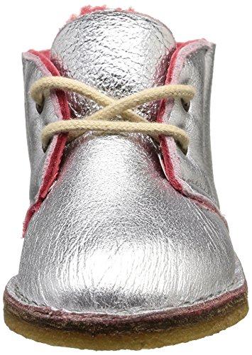 Pèpè 1016 NF, Desert boots fille Argent (Montone Argento/Ciliegio Para Miele)