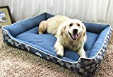 Jasonwell Rectangle Pet Heavy Duty Whole Bed & Bed Cover for Cats and Dogs,Puppy Pets,Dogs Bed with Removable Washable Denim Cover (XL)