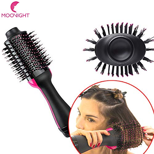 Secador de pelo de un paso y volumizador, salón de aire caliente Paddle estilo cepillo negativo Ion generador alisador de pelo rizador estiler para todos los tipos de cabello