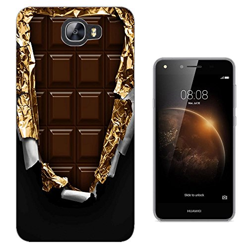 actory Slab Of Chocolate Gold Wrapper Design Huawei Y6 II Compact Fashion Trend Silikon Hülle Schutzhülle Schutzcase Gel Rubber Silicone Hülle (Gucci Chocolate)