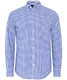 GANT Herren Freizeithemd The Broadcloth Gingham Reg Bd, Blau (College Blue 436), Large (Herstellergröße: L)