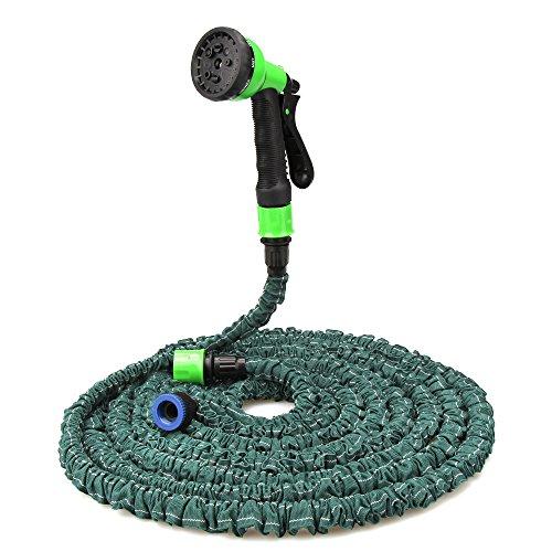 KOYOSO Flexibler Gartenschlauch 15m, flexiSchlauch, Wasserschlauch flexibel, Gartenteichschlauch Bewässungsschlauch dehnbar