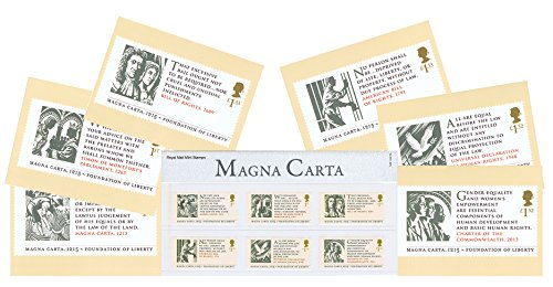 gift-set-of-2015-magna-carta-stamp-presentation-pack-and-phq-cards-set-of-6-royal-mail-postcards