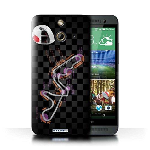 Kobalt® Imprimé Etui / Coque pour HTC One/1 E8 / Italie/Monza conception / Série 2014 F1 Piste Japon/Suzuka