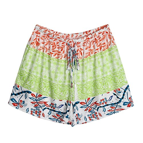 ts Sommer Shorts Hohe Taille Kurze Hosen (XL, Grün) (Rote Pailletten-shorts)