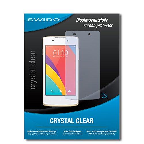SWIDO Schutzfolie für Oppo Joy Plus [2 Stück] Kristall-Klar, Hoher Härtegrad, Schutz vor Öl, Staub & Kratzer/Glasfolie, Bildschirmschutz, Bildschirmschutzfolie, Panzerglas-Folie