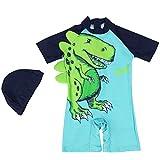 Baby Jungen Einteiler Kurzarm Bademode - Säugling Badeanzug Kinder Badebekleidung Karikatur Dinosaurier