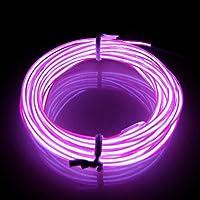 Lerway Purple 3M EL Wire Led Light Bike Home Kitchen Room Bathroom Car LED Decoration Light + Controller Box