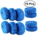 Yardwe 10PCS Antibacterial Blue Automatic Toilet Bowl Bathroom Cleaner Tablets (Blue)