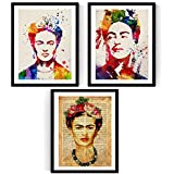 Nacnic Pack de láminas para enmarcar Frida Creativa. Posters Estilo Acuarela. Decoración de hogar