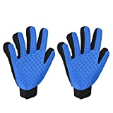 Pet Grooming Massage Glove Brush, OMorc 2Pcs Pet Dog Cat Grooming Gloves Hair Remover Brush Glove for Long and Short Hair