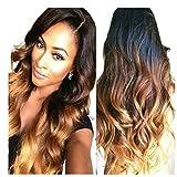 Obzer USA® Ombre perücke Haar Extension haarverlängerung haarteile Haar synthetische perücken wig