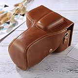 Xdashou Fotocamera Custodia in Pelle PU Borsa Wuzpx Wide Body Camera Bag for Nikon D3200 / D3300 / D3400 (18-55mm / 18-105mm Lens) (Nero) (Colore : Brown)