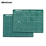 "Docooler Self-Healing Rotary Cutting Mat Cutting Pad Patchwork Cut Pad Double Sided 5-Ply Mat with Max Healing for Cropping Sewing Quilting Craft A4 12"" * 8"""