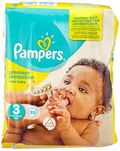 Preisvergleich Produktbild PAMPERS New Baby Gr.3 midi 4-9kg Sparpack 35 St