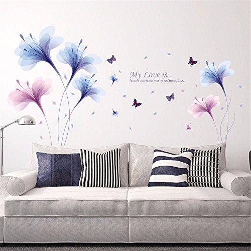 Preisvergleich Produktbild Xzpy129 Die Schlafzimmer Sind Schrankbett Traum Orchid Wohnzimmer Tv-Wand Kleben Sie Den Aufkleber Animation Selbstklebende Abnehmbare Eingerichtet, 60 * 90 Cm.