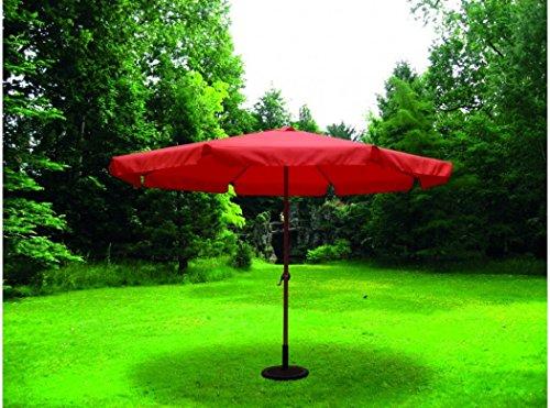 sol-jardin Sonnenschirm Sonnenschirm 3,5 Meter Durchmesser Rohr 48 mm Aluminium Terracotta und...