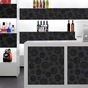 Adhésif decoratif Noir pour déco intérieure, meuble et mobilier - rouleau de 45cm x 500 cm