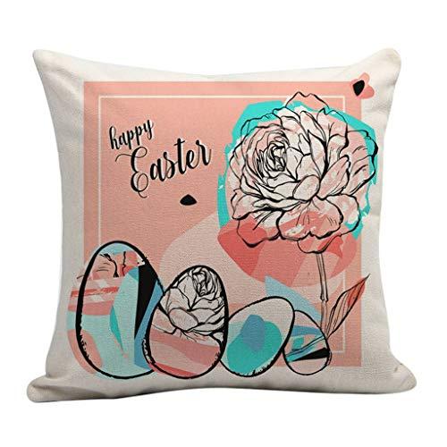 Kissenbezug Osterhase, Ostern Kissen Kissenhülle Dekorieren Hochwertig Pillowcase Retro Hochwertig Dekokissen Waschbar für Autos Wohnzimmer Schlafzimmer URIBAKY