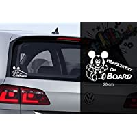Micky Maus #1 | Baby - Name On Board | Wunschtext | Auto Aufkleber | Lustig | Baby On Board