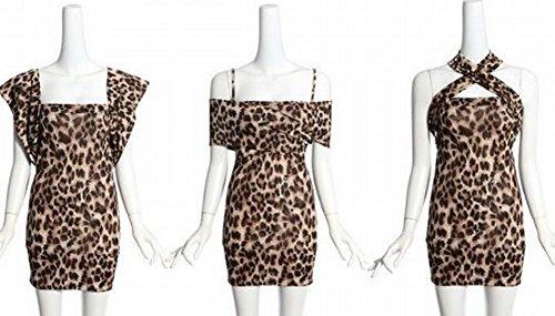 DIDIDD Western Sexy Unterwäsche Kleid Eine Vielzahl von Anzug Anzug Nachtclub Ktv Abendkleid,Leoparddruck,Alle (Western Dance Style Kostüme)