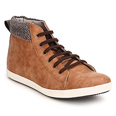 Knotty Derby Men's Tan and Grey Boots - 6 UK/India (40 EU)