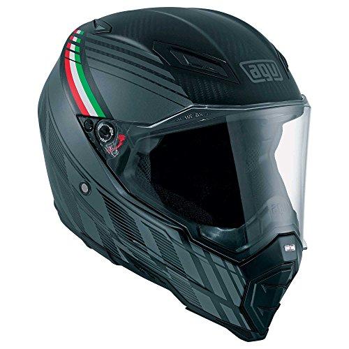 AGV Motorradhelm AX-8 E05 Multi, Schwarz Forest Matt Carbon/Grau, Größe XXL