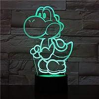 Yoshi Super Mario Lampe LED pour jeux vidéo Changement de couleur USB Veilleuse et décoration