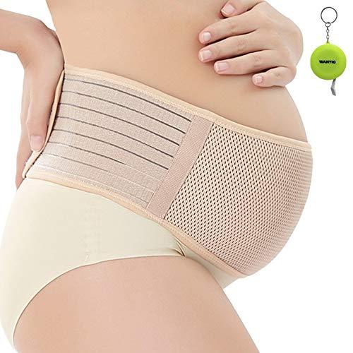 WANYI Fascia Maternità Traspirante Regolabile Maternity Band Belt con supporto elastico e confortevole per donna incinta-Fascia per gravidanza con sostegno lombare, e per addominali (Marrone)