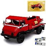 alles-meine GmbH Mercedes-Benz Unimog U404 Vigli Del Fuoco Feuerwehr Rot 1/43 Atlas Modell Auto mit individiuellem Wunschkennzeichen